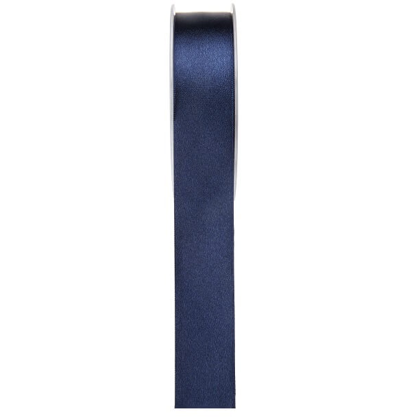 Ruban satin bleu marine 6mm x 25m
