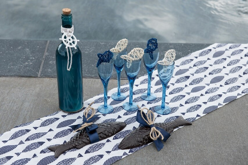 Ruban satin bleu marine pour decoration