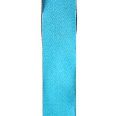 Ruban satin bleu turquoise 15mm x 25m (x1) REF/2719