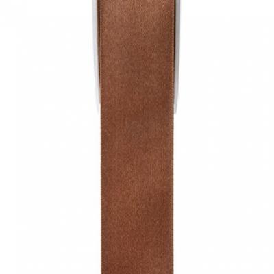 Ruban satin chocolat 15mm x 25m (x1) REF/2719