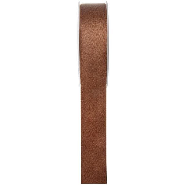 Ruban satin chocolat 6mm x 25m