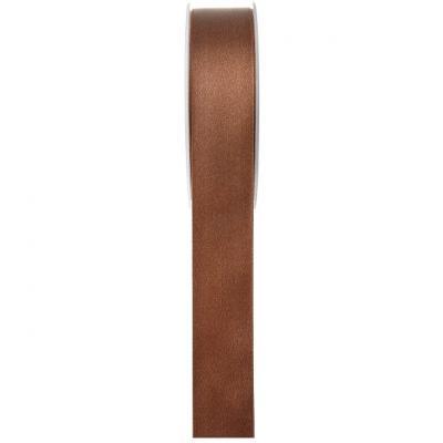 Ruban satin chocolat 6mm x 25m (x1) REF/70080