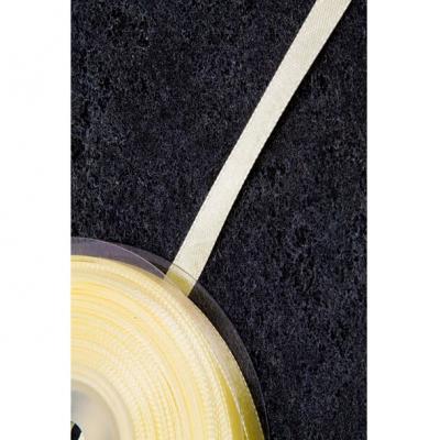 Ruban satin ivoire 6mm x 25m (x1) REF/RU325