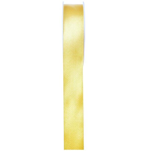 Ruban satin jaune 6mm x 25m