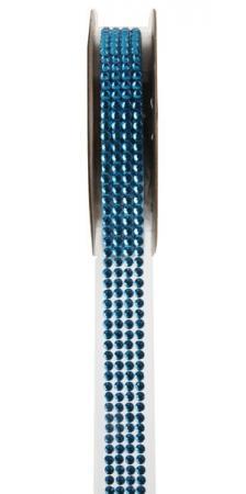 Ruban strass autocollant bleu turquoise (x1) REF/5267