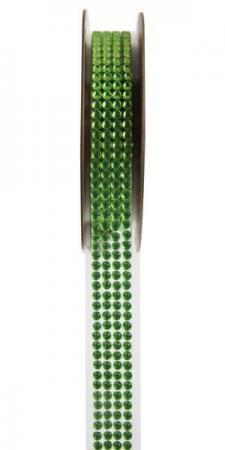 Ruban strass autocollant vert (x1) REF/5267