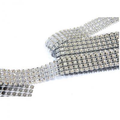 Ruban strass diamant argent 2cm x 1.80m (x1) REF/DEC751
