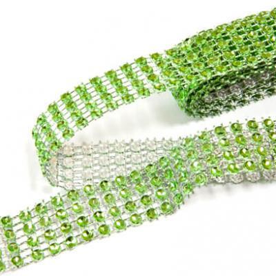 Ruban strass diamant vert 2cm x 1.80m (x1) REF/DEC751