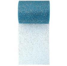 Ruban tulle bleu turquoise pailleté, 10m (x1) REF/70228