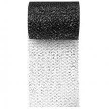 Ruban tulle noir pailleté, 10m (x1) REF/70228