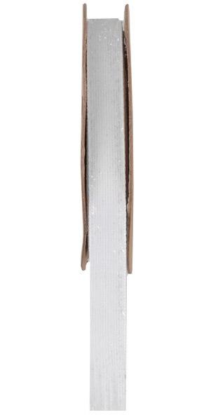 Ruban velour paillete autocollant blanc