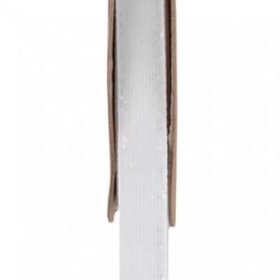 Ruban velour pailleté autocollant blanc (x1) REF/5644
