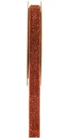 Ruban velour pailleté autocollant cuivre (x1) REF/5644