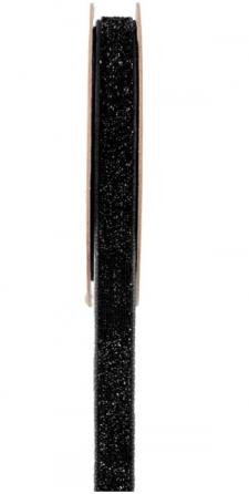 Ruban velour pailleté autocollant noir (x1) REF/5644