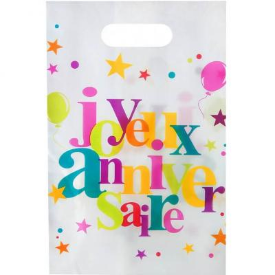 Sac joyeux anniversaire festif (x10) REF/4801