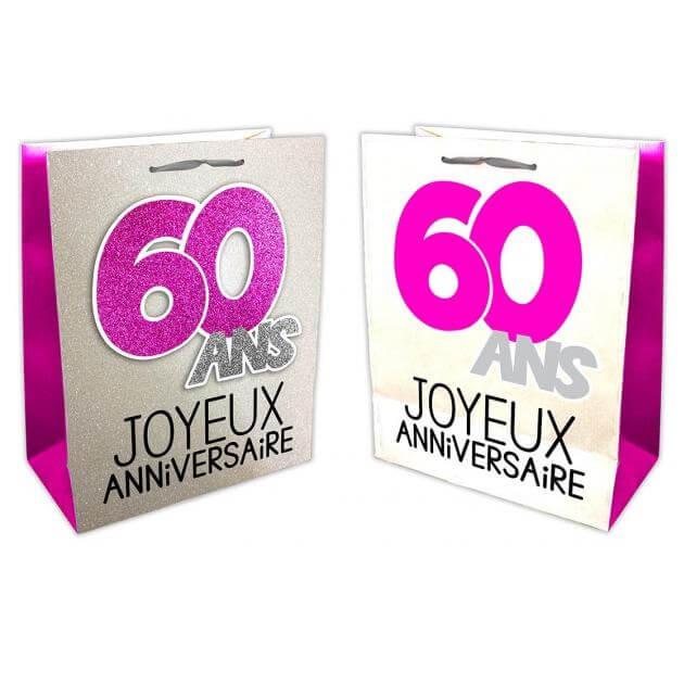 Sac anniversaire 60ans fuchsia