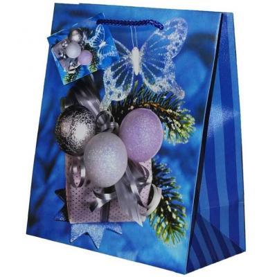 Sachet cadeau avec décoration boule de Noël de 23cm H (x1) REF/SUQ211