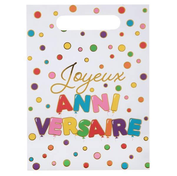 Sachet a bonbon joyeux anniversaire multicolore 1