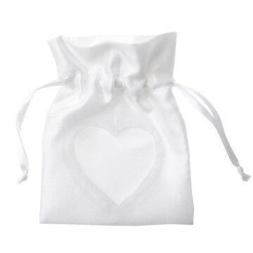 Sachet coeur blanc (x6) REF/70137