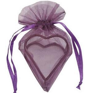 Sachet coeur prune