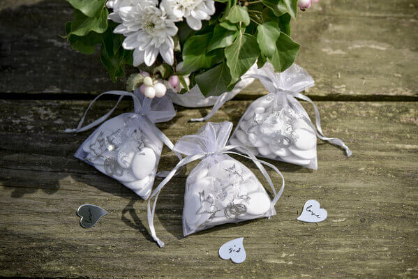 Sachet dragee mariage alliances
