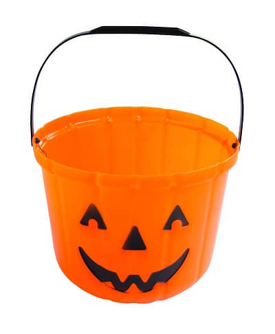 Seau citrouille orange halloween