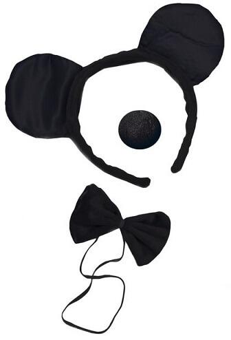 Serre tete nez et noeud de souris noir