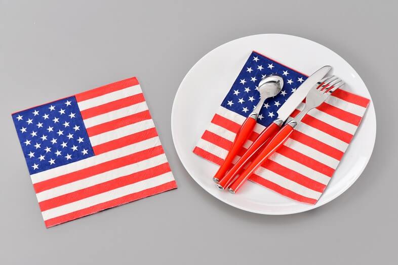 Serviette amerique