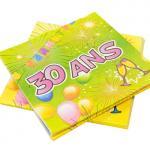 Serviette anniversaire 30ans (x20) REF/AA1005PP/SV30