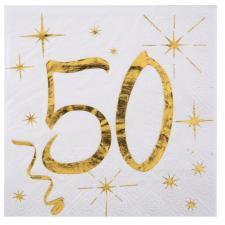 Serviette cocktail anniversaire 50ans (x20) REF/6159
