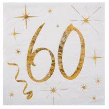 Serviette cocktail anniversaire 60ans (x20) REF/6159