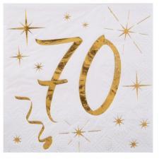 Serviette cocktail anniversaire 70ans (x20) REF/6159
