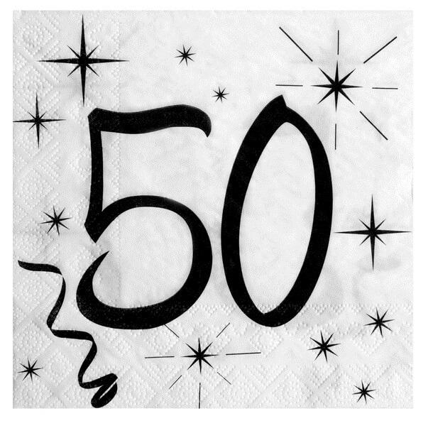 Serviette de table 50ans anniversaire
