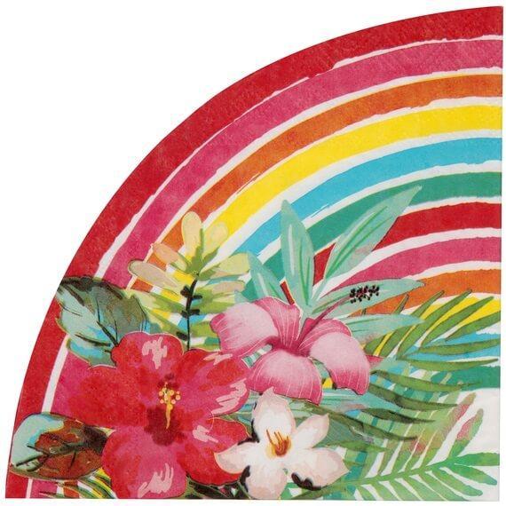 Serviette de table aloha sur le theme des iles