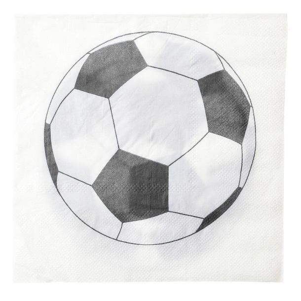 Serviette de table ballon de football