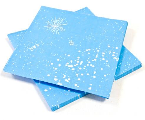 Serviette de table bleu turquoise 2