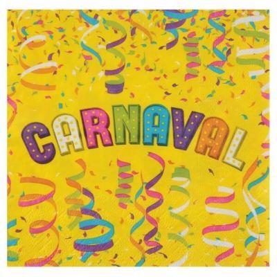 Serviette de table Carnaval multicolore en papier 16.5cm (x20) REF/7360