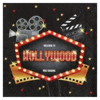 Serviette de table cinéma Hollywood (x20) REF/6634
