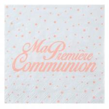 Serviette de table communion corail (x20) REF/6298