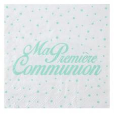 Serviette de table communion mint (x20) REF/6298