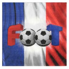 Serviette football: France tricolore (x20) REF/5867