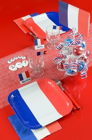 Serviette de table france 2