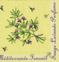 Serviette de table garrigue (x50) REF/8570