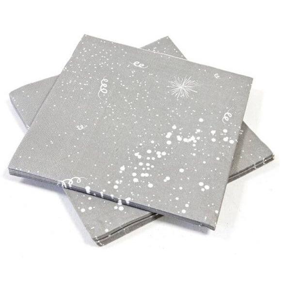 Serviette de table grise pour fete