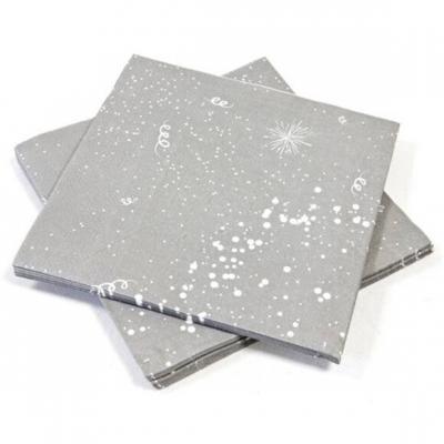 Serviette de table grise (x20) REF/JET001SV