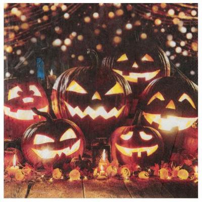 Serviette de table Halloween avec des citrouilles (x20) REF/6964