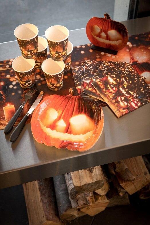 Serviette de table halloween citrouilles
