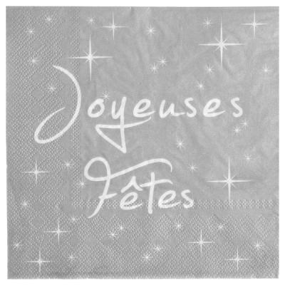 Serviette de table joyeuses fêtes (x20) REF/4440