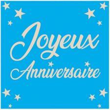 Serviette de table joyeux anniversaire bleue en papier 2
