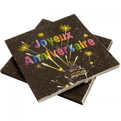 Serviette joyeux anniversaire (x20) REF/AA2005CH/SV